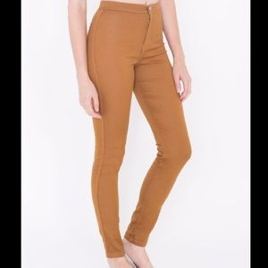 Camel Brown High Waist Stretch 'Easy Jeans'